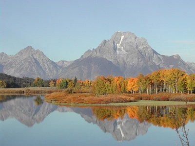 Oxbow Bend in Fall Colors, Photo Credit:NPS,Hattaway