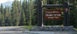 Welcome to Grand Teton sign