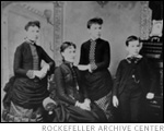 JDR, Jr. seen on right with three of his sisters, Photo Credit: Rockefeller Archive Center