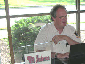 Writer Will Anderson at work in the Visitor Center.