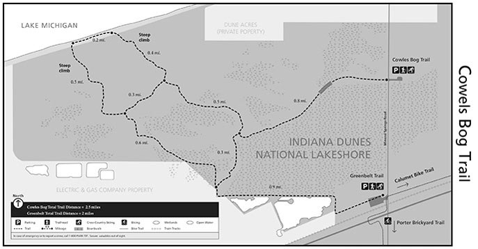 Cowles Bog Trail Map