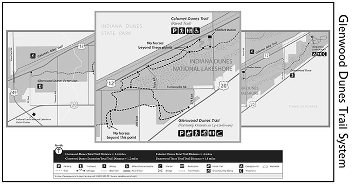 Glenwood Dunes Trail Map