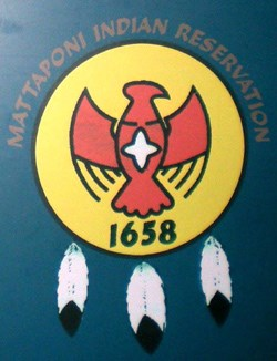 Mattaponi Tribal seal from the Historic Jamestowne Visitor Center exhibit about the Mattaponi Indians.