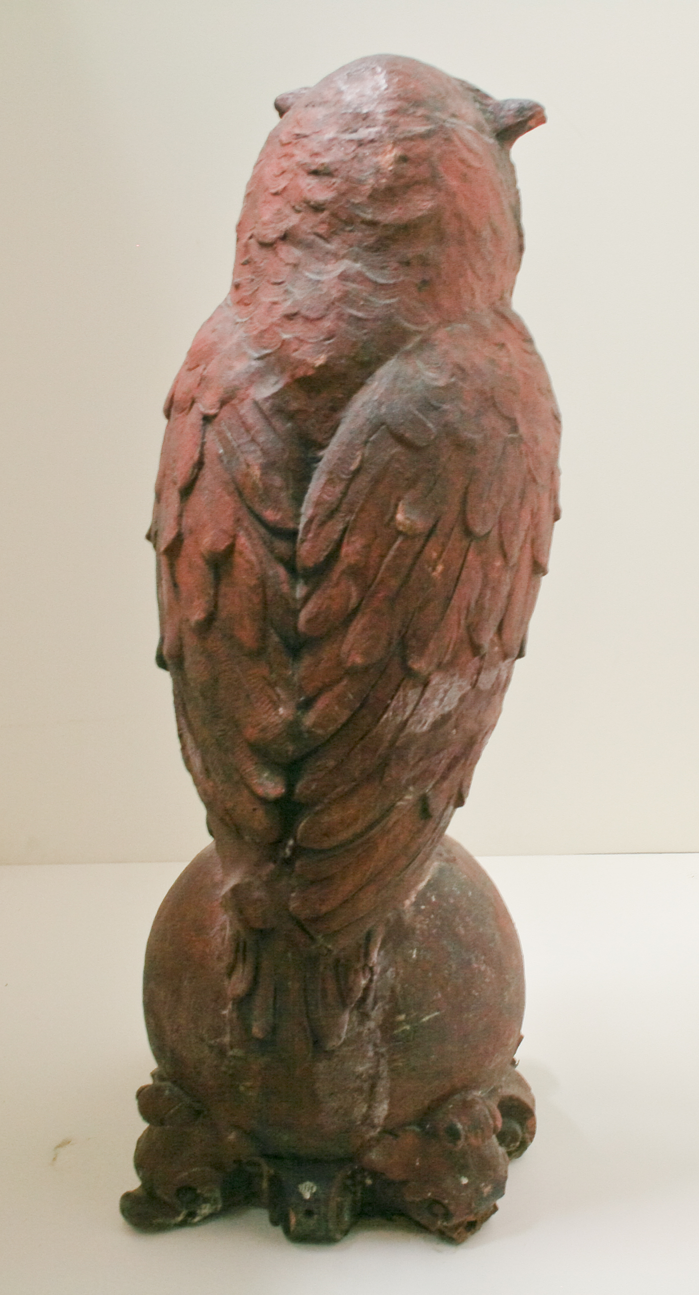 Terra Cotta owl, from the back