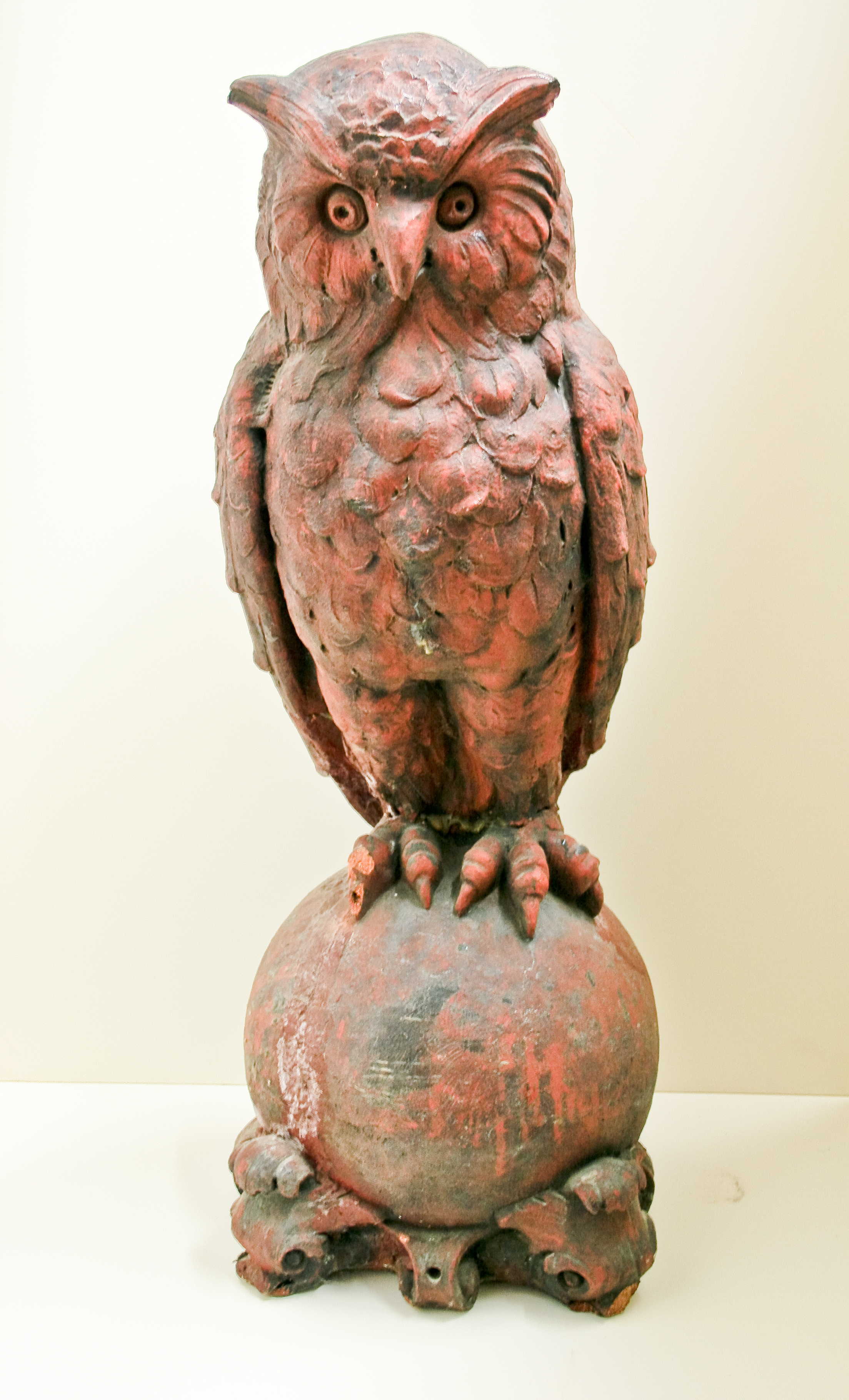 Terra Cotta Owl, front view