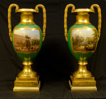 Charles Gibson's vases, a gift from the Prussian monarch