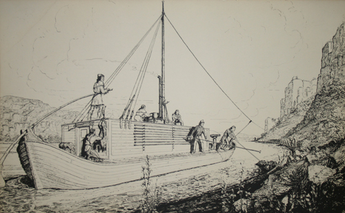 keelboat engraving