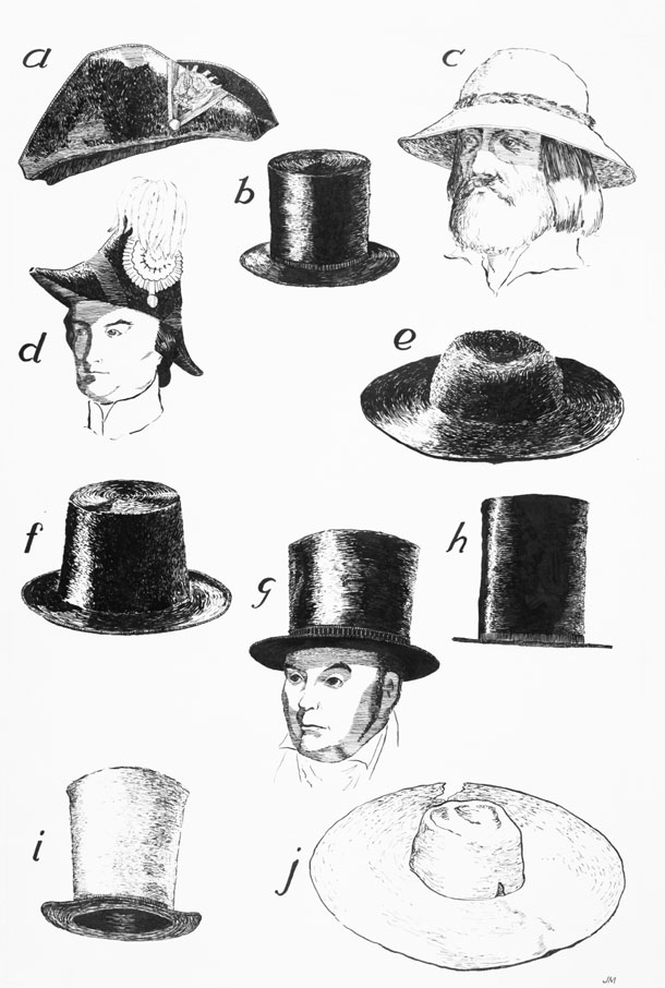 Types of Beaver Hats by James Mulcahy, V107-000177