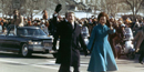President and Rosalynn Carter on inaugural walk to White House.