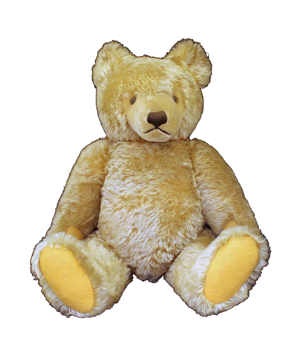 A Steiff teddy bear, bought in the 1960s by Rose Fitzgerald Kennedy to display in the nursery of the Beals Street home in Brookline, Massachusetts.