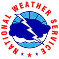 National Weather Service logo with a stylized lightning bolt and clouds