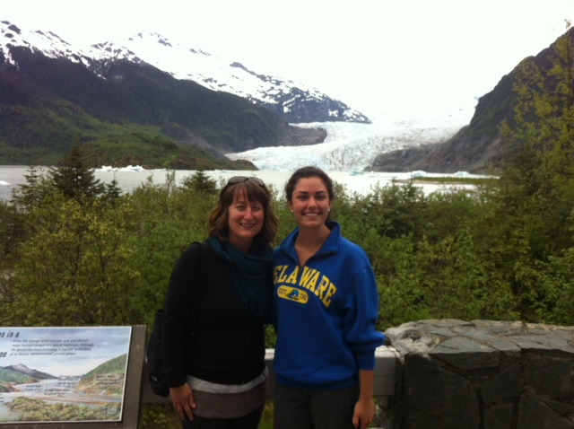 [Photo 2] Katie and I at Mendenhall Glacier, in Juneau, AK