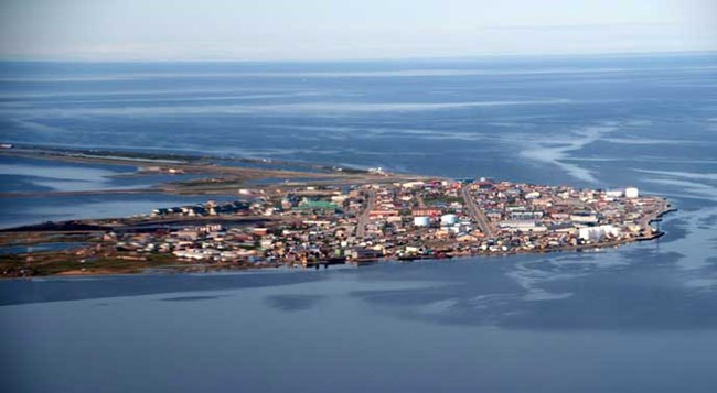 aerial photo of Kotzebue, AK