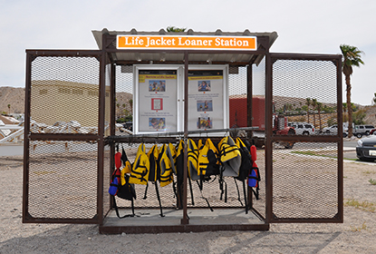 Lifejacket Loaner Stations are available at Boulder Beach at Lake Mead and Cottonwood Cove at Lake Mohave.