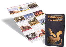 Photo image of the National Park Service Passport and stamps.