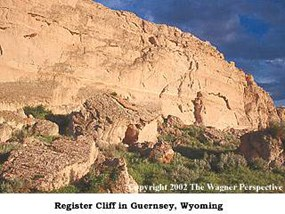 Register Cliff near Guernsey, Wyoming.
