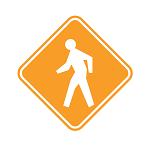 yield pedestrian sign