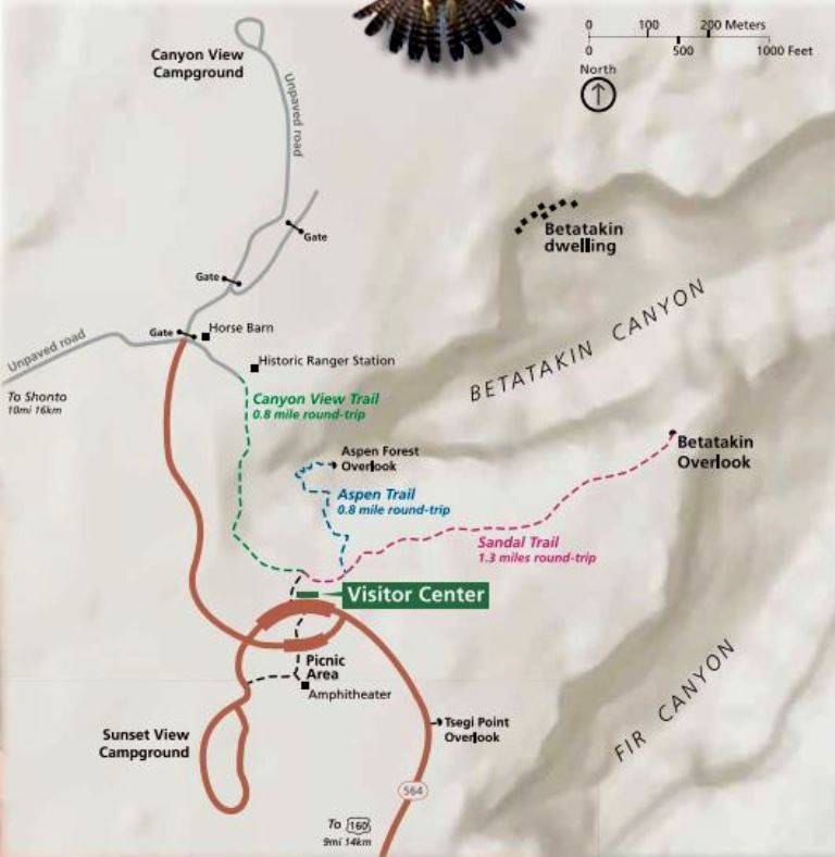 Navajo National Monument Map