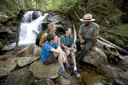Family and North Cascades Park Ranger