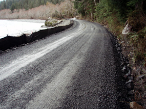 completed repairs to Quinault South Shore Road