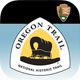 Icon with Oregon Trail National Historic Trail logo and the National Park Service arrowhead logo.