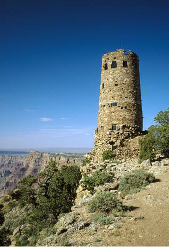 Stone tower overlooking the Grand Canyon