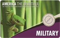 2018 Interagency Annual Pass-Military with small green frog on a green plant