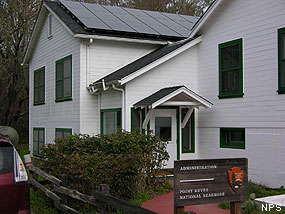 Photovoltaic Panels on Point Reyes National Seashore's Administration Building