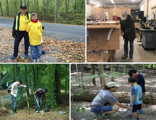 Volunteers at the park get involved in a wide variety of activities