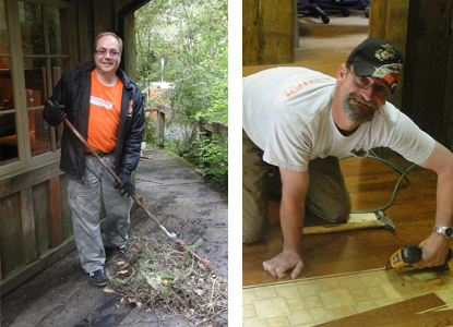 Home Depot lends a hand and new floow at Jedediah Smith Redwoods State Park Visitor Center.