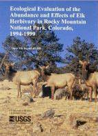 "Photo cover of USGS Open File Report 02-208, ""Ecological Evaluation of the Abundance and Effect of Elk Herbivory in Rock"