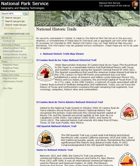 Image of website for the interactive trails map viewer