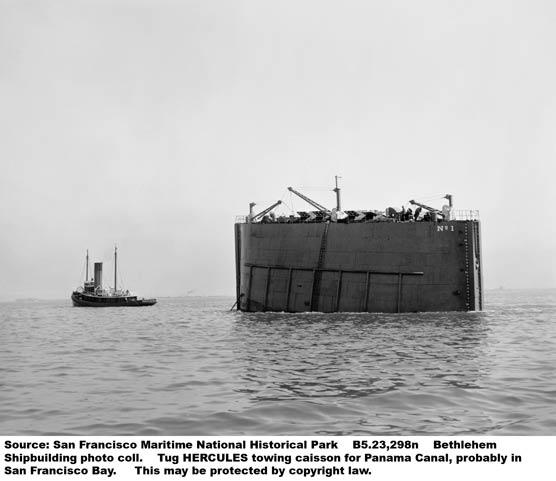 Hercules history san francisco maritime national for Caisson maritime