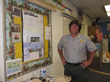 A teacher-ranger-teacher brings the park to his classroom, sharing the story of our national parks.