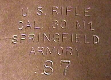 M1 Garand Serial Number