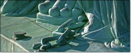 Image result for statue of liberty chains images
