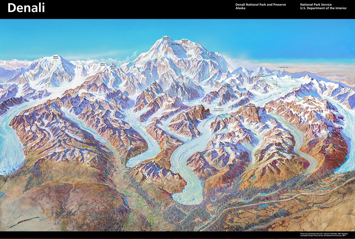 3d Panorama of Denali