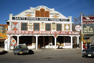 Pueblo of Santo Domingo (Kewa) became a stop on Route 66, l