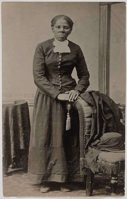 Black and white photograph of Harriet Tubman photographed by Harvey Lindsley.