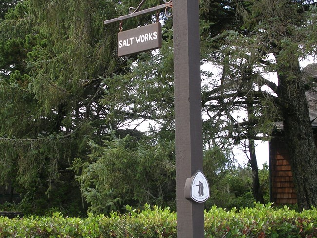 Sign indicating location of Salt Works.