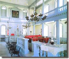 interior view of the Touro Synagogue