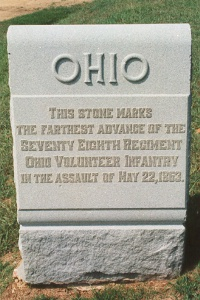 78th ohio infantry 22 may 1863 assault marker