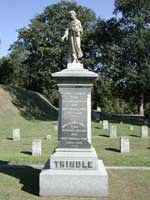 Monument to Cemetery Superintendent Trindle and Family