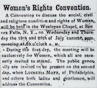 Seneca Falls Convention Cartoon Seneca Falls Convention
