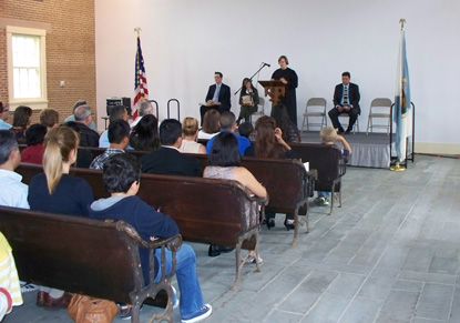 Naturalization ceremony in the Wesleyan Chapel
