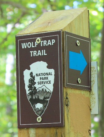 Wolf Trap trail post
