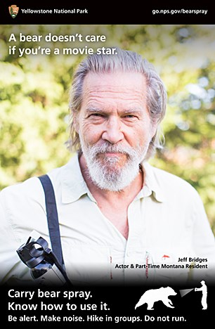 Bear spray poster with Jeff Bridges