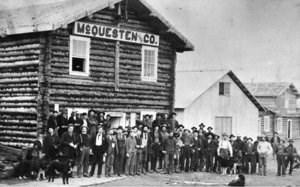 McQuesten Trading Post, Circle City, circa 1896.