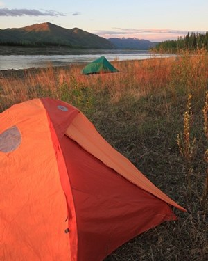 Camping on the Yukon River